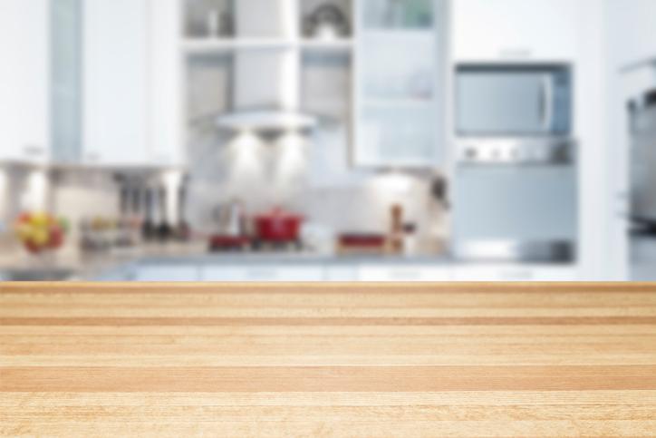 Empty kitchen countertop