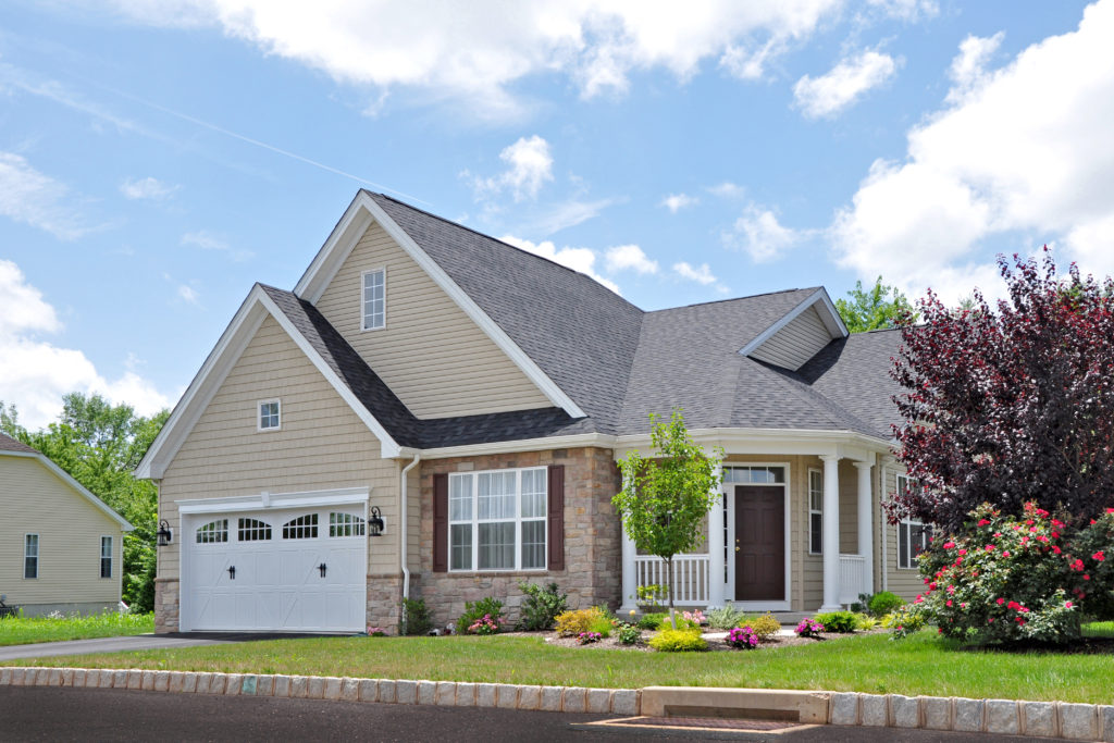 The Darien Exterior at Meadow View Farms on a nice Summer day.