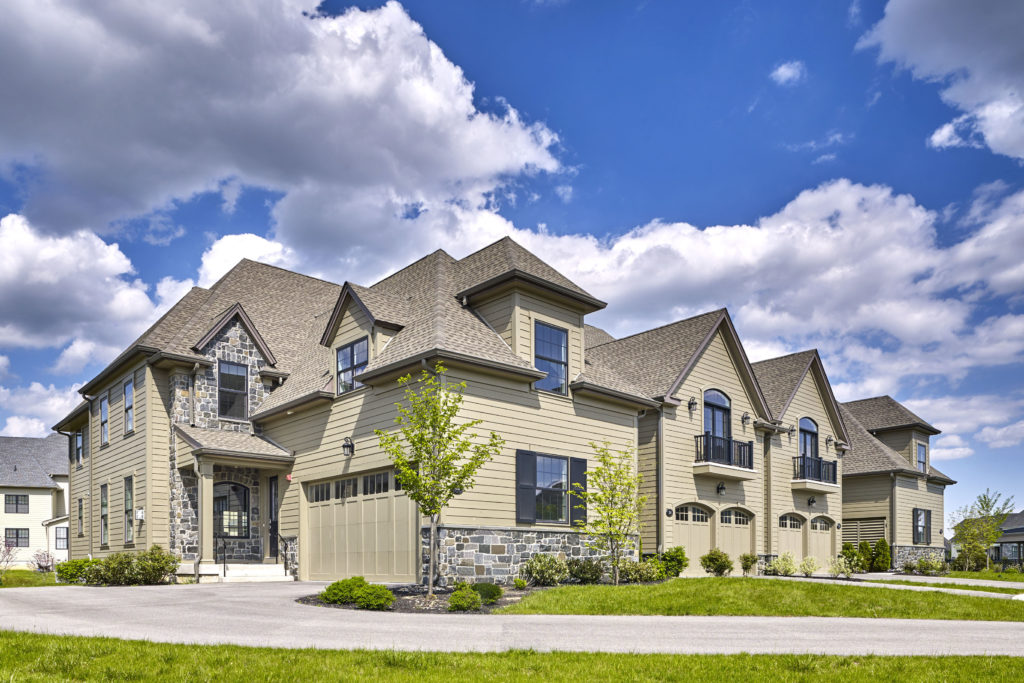 Carriage Home Exterior at The Reserve at Creekside.